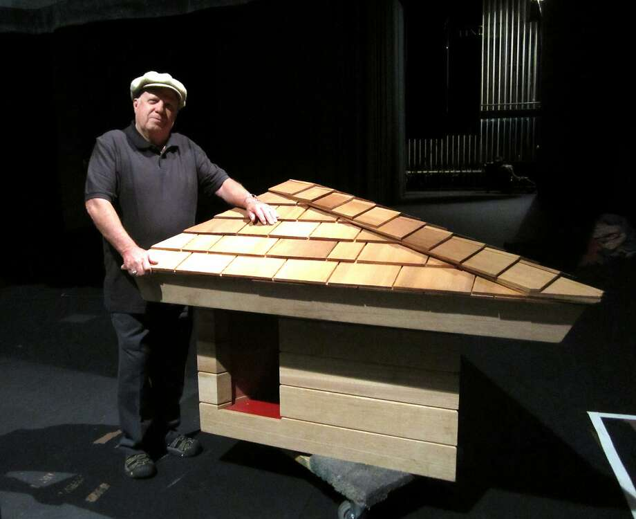 Cabinetmaker Jim Berger donated to Marin County his replica of his family's Frank Lloyd Wright-designed doghouse. Photo: Picasa, Photo By Alisse Gratehouse