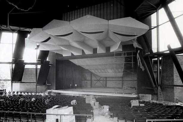 Construction of the Saratoga Performing Arts Center, 1966, at Spa State Park in Saratoga Springs, N.Y. (Times Union archive)