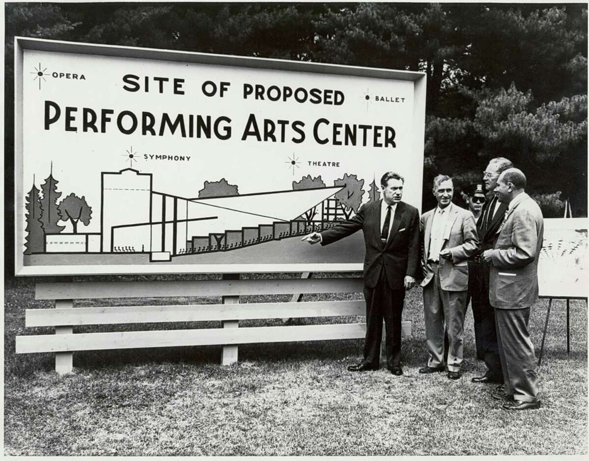 Proposed site of Saratoga Performing Arts Center with Gov. Rockerfeller June 30, 1962. (Courtesy SPAC)