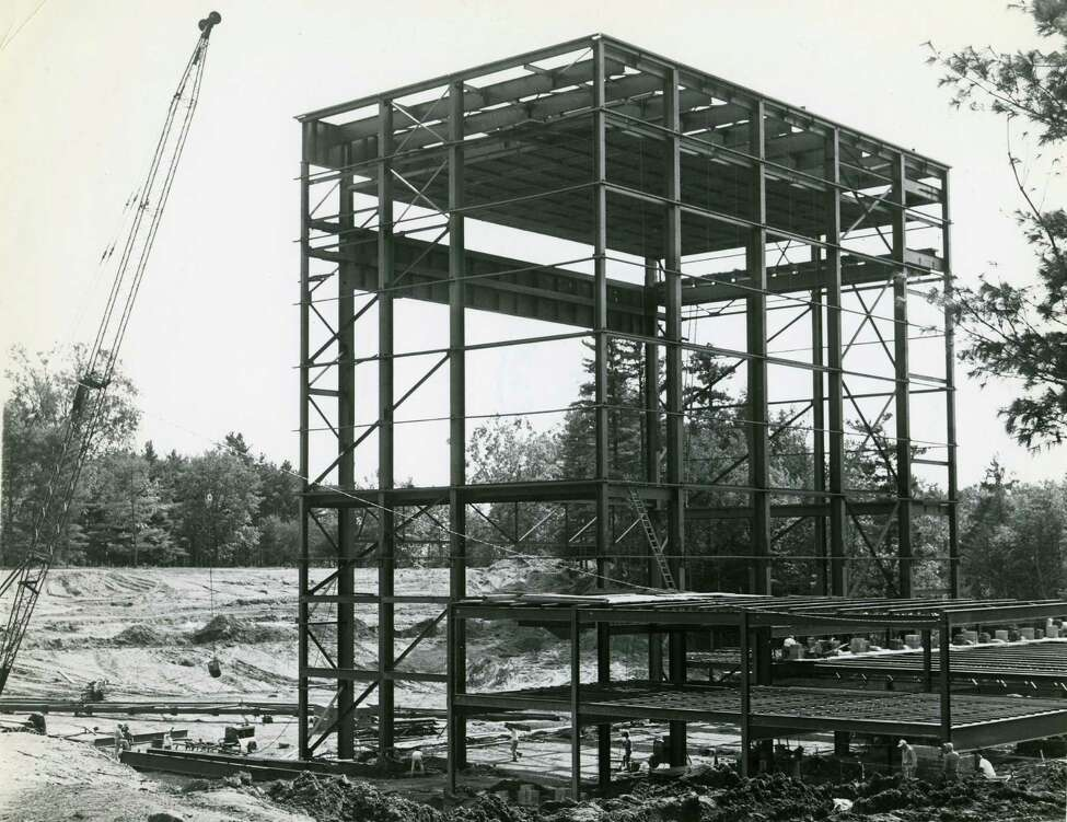 Times Union archive photo of the construction of Saratoga Performing Arts Center. Undated.