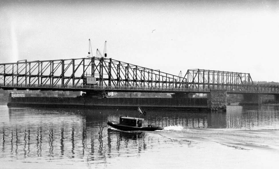 Albany-Greenbush Bridge, 1931, in Albany, N.Y. This structure was replaced by the Dunn Memorial Bridge. (City of Albany)