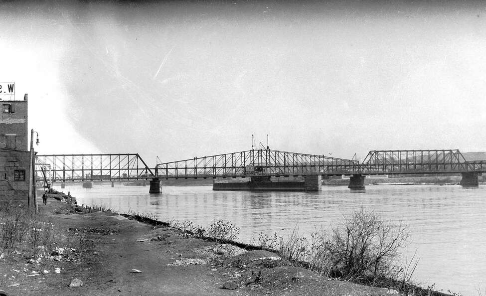 Albany-Greenbush Bridge, c 1931, in Albany, N.Y. This structure was replaced by the Dunn Memorial Bridge. (City of Albany)