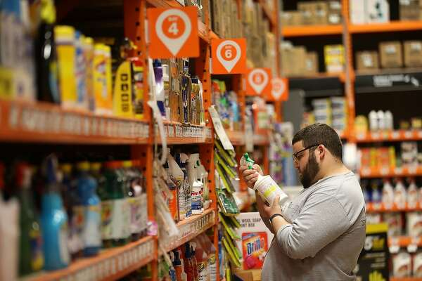 MIAMI, FL - MAY 17:  Hector Ponte shops for cleaning supplies in a Home Depot store on May 17, 2016 in Miami, Florida. Home Depot  raised its yearly outlook after first quarter sales figures showed the home improvement retailer had a net profit of $1.8 billion, or $1.44 share, compared with $1.58 billion, or $1.21 a share, a year ago.  (Photo by Joe Raedle/Getty Images)