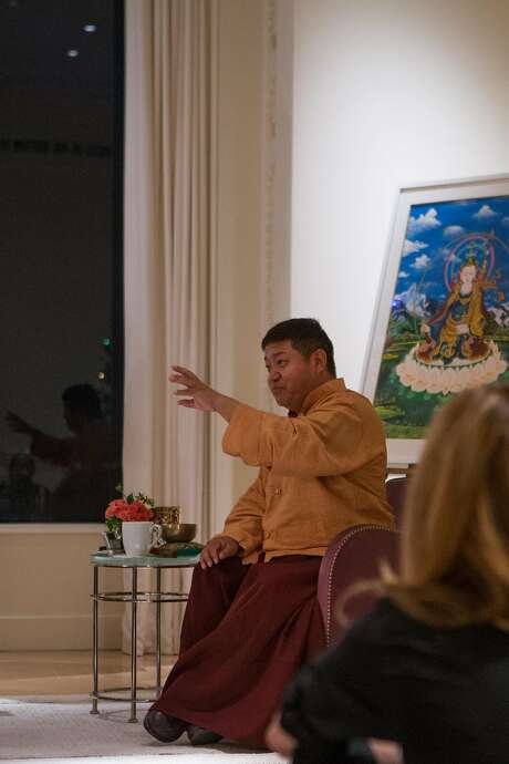 Orgyen Chowang Rinpoche is a Bay Area meditation master and teacher who led a meditation session at the Stones' home. Photo: Nathaniel Y. Downes, The Chronicle