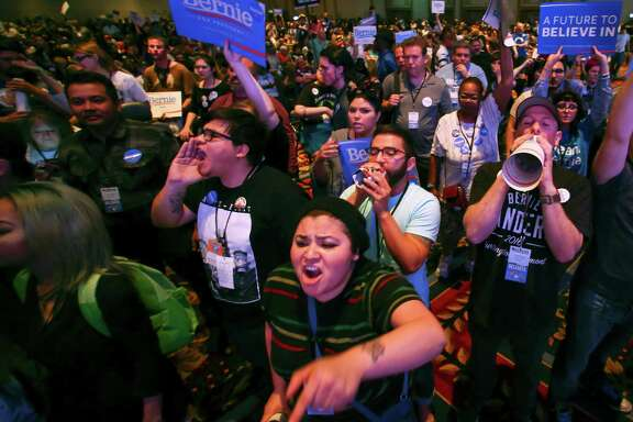 Supporters of presidential candidate Bernie Sanders tried to shout down Sen. Barbara Boxer, D-Calif., as she spoke during the Nevada Democratic convention last week in Las Vegas.