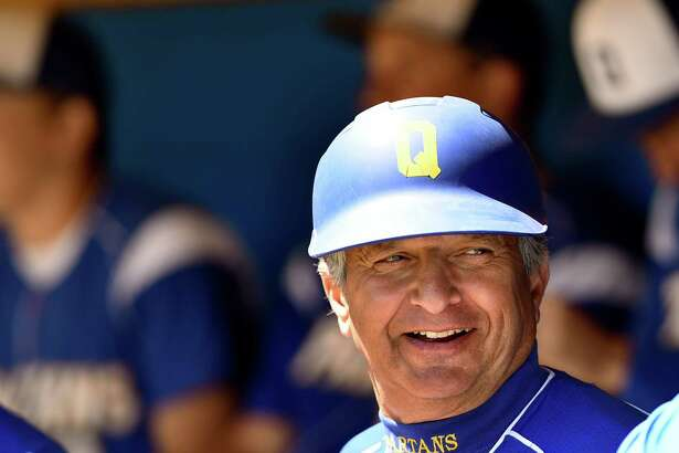 Queensbury coach Jay Marra during their baseball game against Burnt Hills on Saturday, April 30, 2016, at Queensbury High in Queensbury, N.Y. (Cindy Schultz / Times Union)
