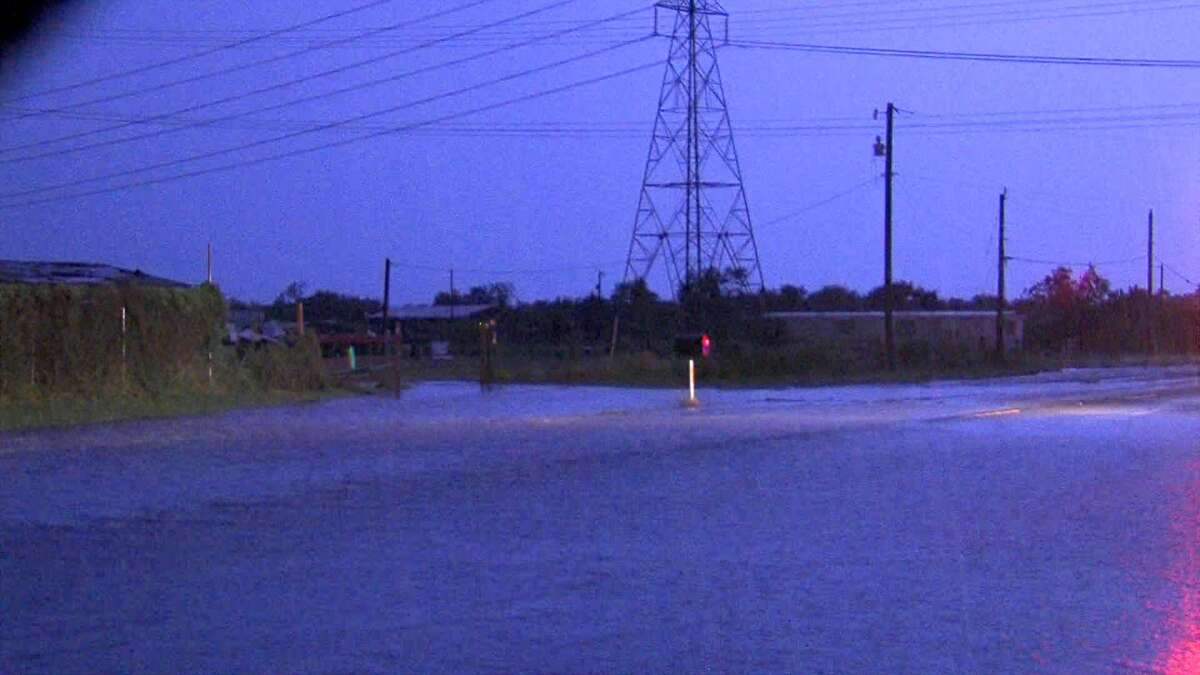 A severe thunderstorm slammed the San Antonio area late Tuesday night, causing flash flood and damage to some roads and residential areas.