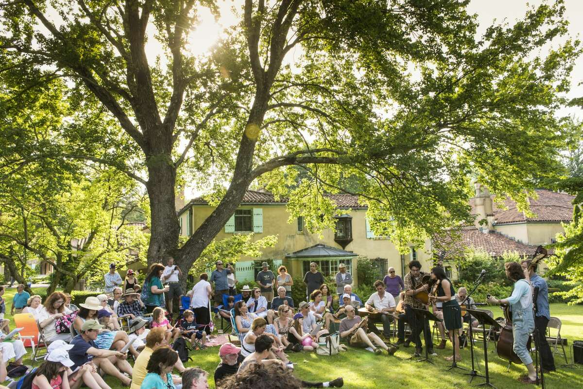 The Social Music Hour Workshop on the East Lawn of the Rosen House at the American Roots Music Festival at Caramoor in Katonah New York on June 28, 2014. (photo by Gabe Palacio)