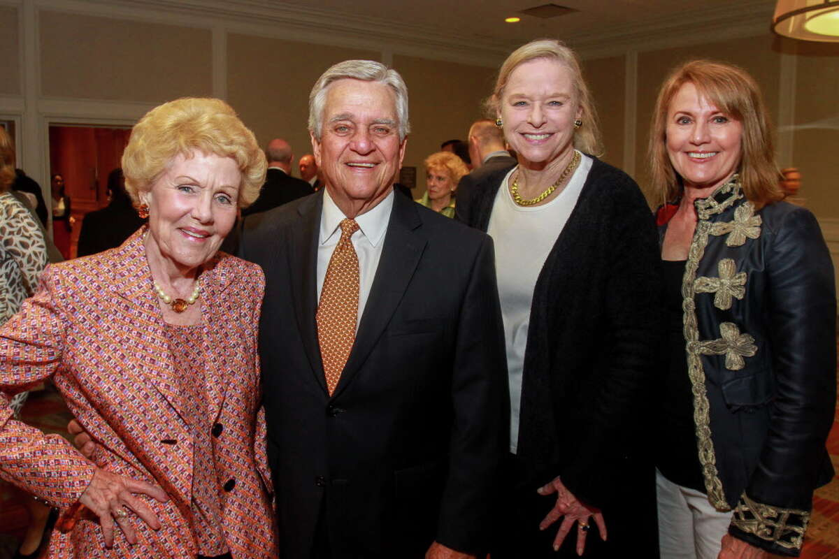Chairs Emily Crosswell, from left, Ned Torian, Flo Crady and Lynn Baird at the Texas Children's Cancer Center's
