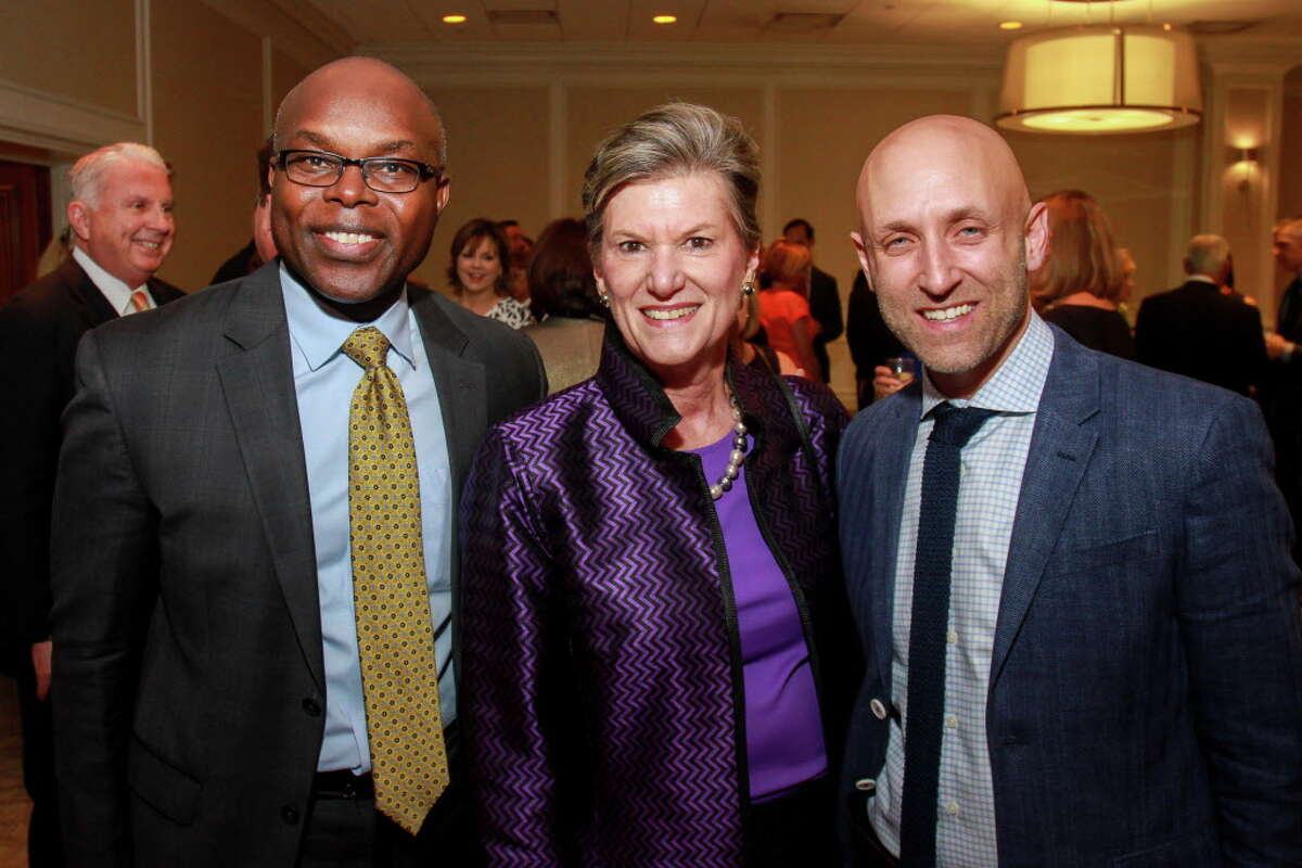 Darryl Montgomery, from left, Kathy Orton and Jason Wright at
