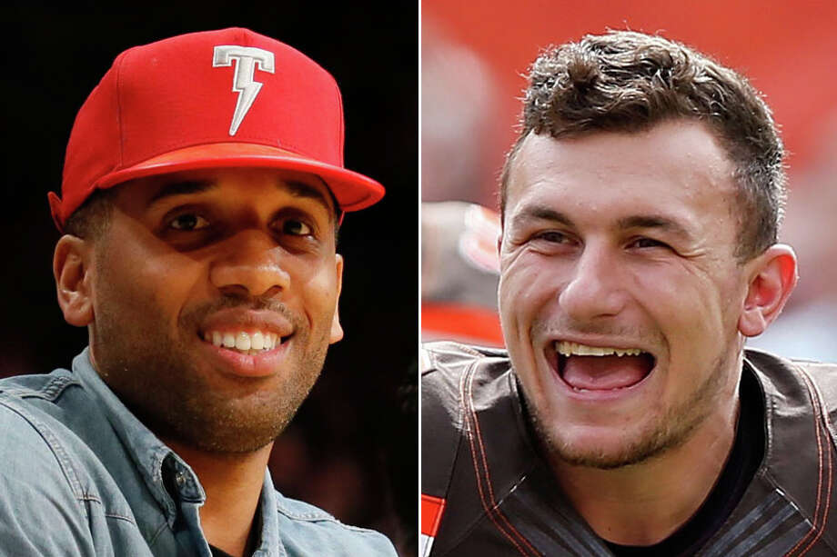 Former marketing manager Maverick Carter (left) said Johnny Manziel is his own biggest opponent in a recent interview.