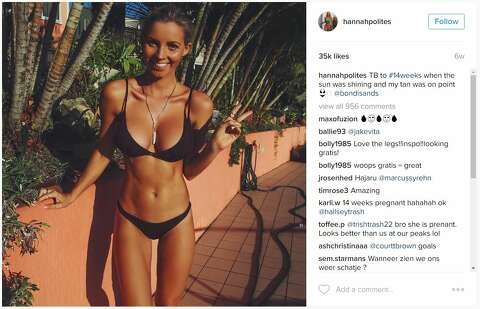 e7e30a07aeee5  p Australian fitness blogger and midwife Hannah Polites is chronicling her  pregnancy on Instagram