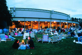 Tanglewood at dusk is a magical setting for a summer's eve concert.