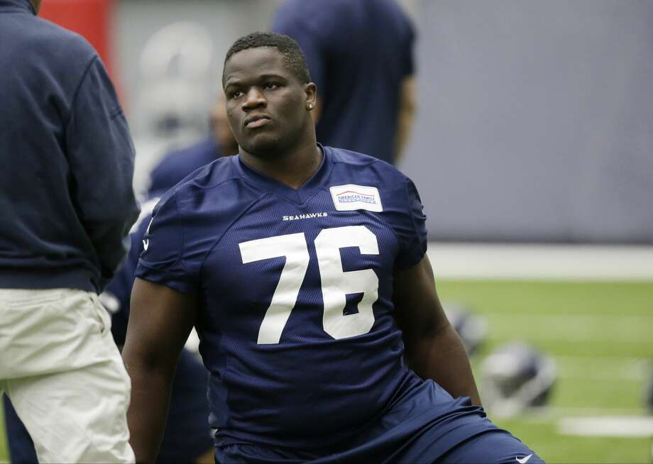 Seahawks rookie guard Germain Ifedi will miss the beginning of his rookie season with a high ankle sprain suffered in practice on Wednesday. Check out the rest of the players mentioned in Wednesday's practice report. Photo: AP