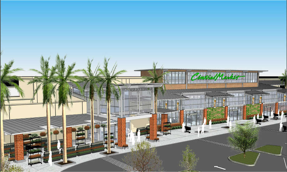 Rendering of the new exterior of Central Market in Houston. The store at Westheimer and Wesleyan will undergo a $10 million renovation. (Courtesy of H-E-B Central Market)