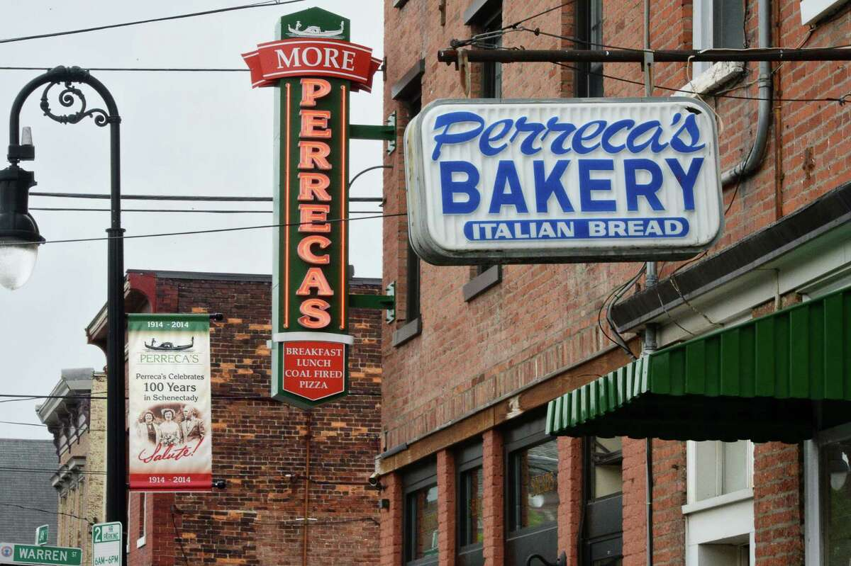 More Perreca's restaurant and bakery in North Jay Street's Little Italy neighborhood Friday May 13, 2016 in Schenectady, NY. (John Carl D'Annibale / Times Union)