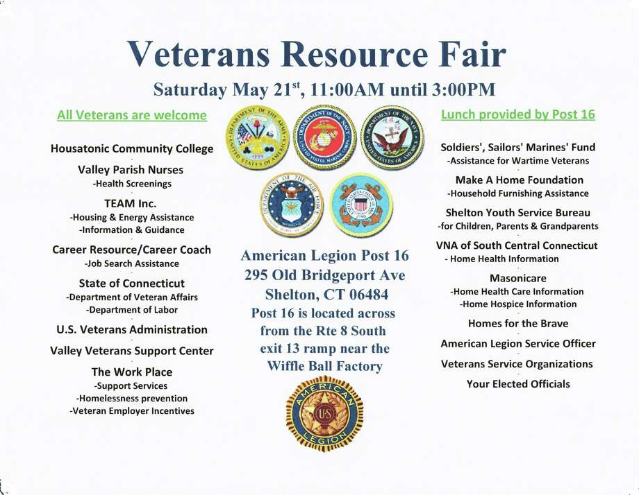 Veterans Resource Fair set for Saturday in Shelton Photo: / Contributed
