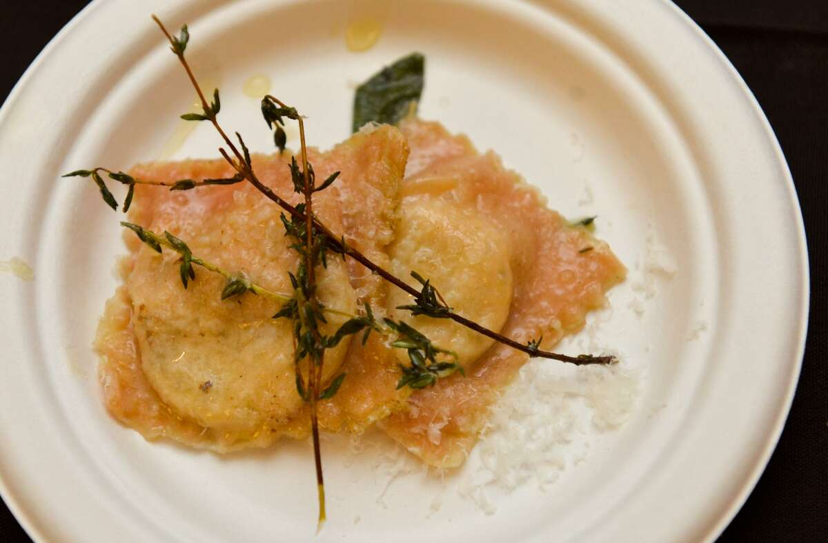 Roasted Beet Ravioli from Rossini Italian Bistro was part of the Express-News Top 100 Dining and Drinks event at the La Cantera Resort.