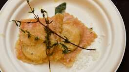 Roasted Beet Ravioli from Rossini Italian Bistro was a standout dish at the Express-News Top 100 Dining and Drinks event at the La Cantera Resort & Spa & Spa.