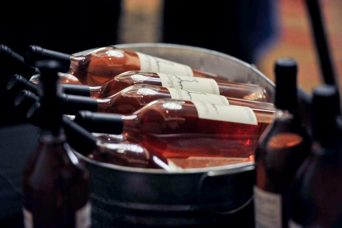 Chilled bottles of William Chris Vineyards wines