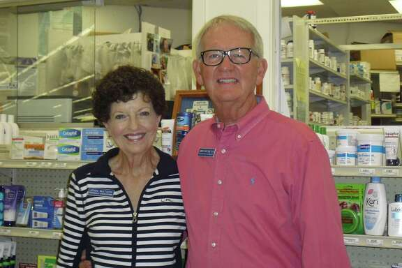 """Joan and James Watson Jr. work at the pharmacy in Brookshire Brothers. He has been named the City of Katy's """"Senior Citizen of the Year."""""""
