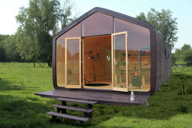 The Wikkelhouse is a tiny home structure made primarily of high-quality cardboard that is wrapped around a house mold. It's currently unavailable in the United States.