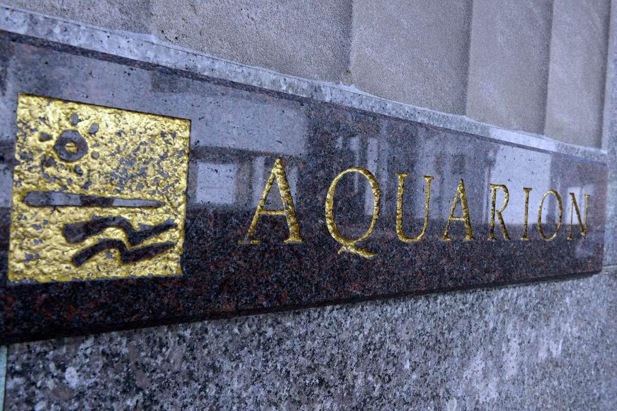 Exterior of Aquarion Water Company headquarters in Bridgeport, Conn.