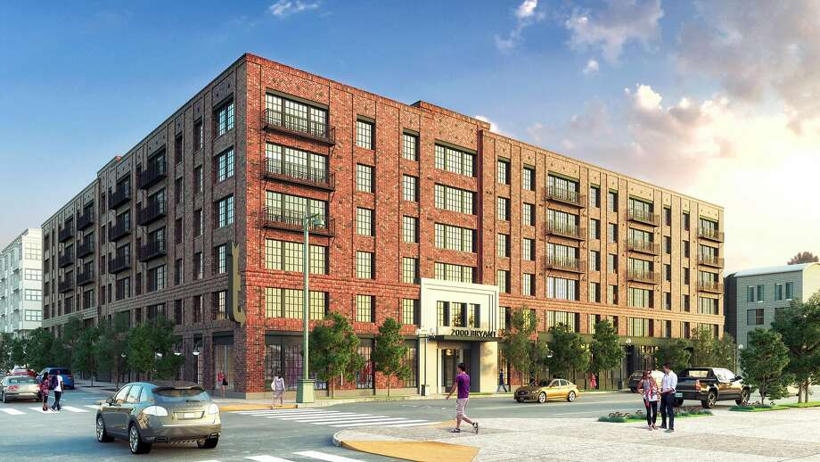 Newest rendering of development proposed for 2000-2070 Bryant St. in San Francisco, known by opponents as the Beast on Bryant. Photo: Handout