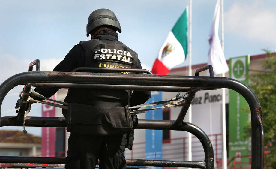 A police officer in Mexico is pictured in this file photo.