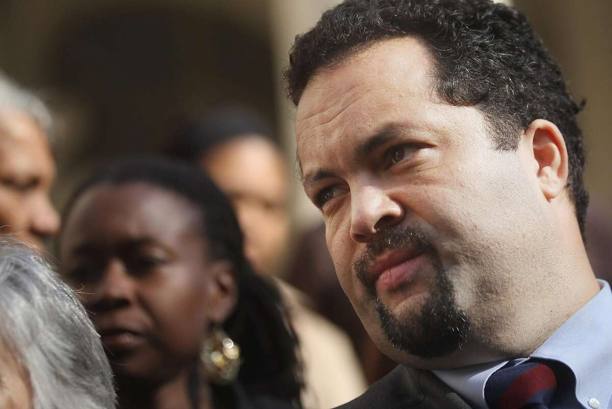 """NAACP President Benjamin Jealous and other civil rights activists announce the """"Stand for Freedom"""" voting rights campaign on the steps of City Hall on November 8, 2011 in New York City. The campaign is in response to an effort by some state legislatures around the country to require voters to provide government photo identification in order to vote. The activists say these efforts are designed to disenfranchise minority voters. (Photo by Mario Tama/Getty Images)"""
