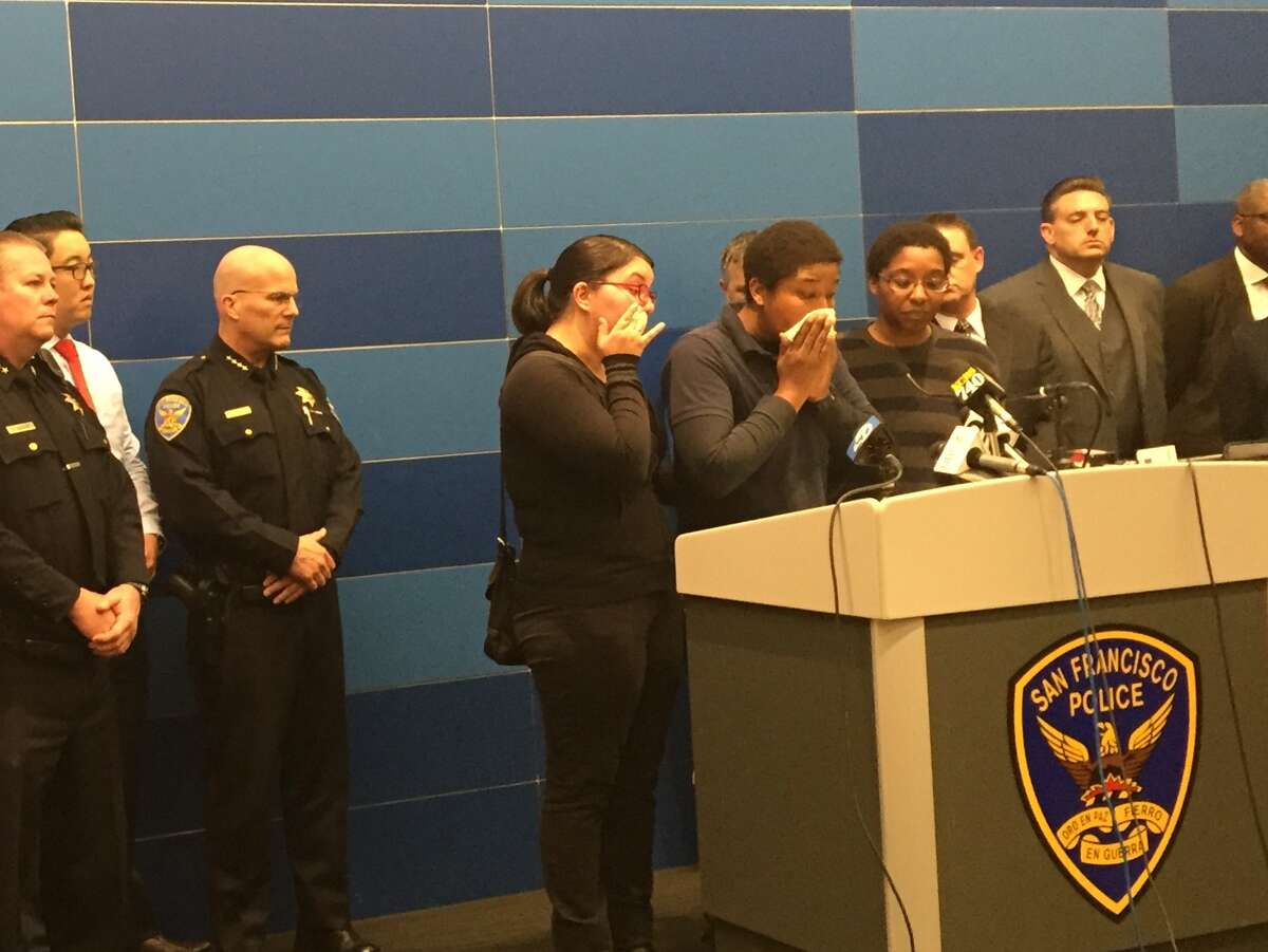 Family and friends of slain mother Nicole Fitts, whose 2-year-old daughter remains missing, joined Police Chief Greg Suhr Wednesday at San Francisco Police headquarters to announce a $10,000 reward in the case that is being put up by Best Buy, the company Fitts worked for.