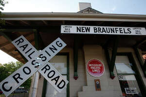 The New Braunfels Historic Railroad Museum in downtown New Braunfels on Saturday, May 7, 2016. (Stephen Spillman / for Express-News)