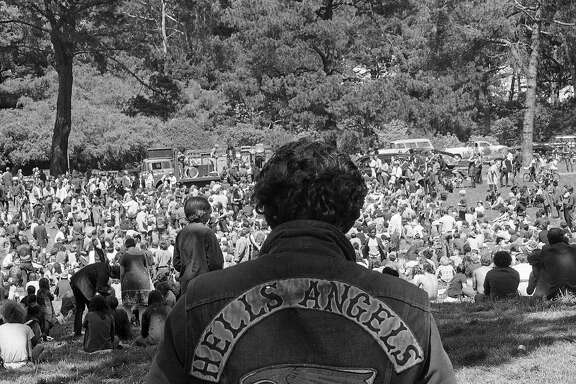 The funeral procession for Hells Angel Chocolate George Hendricks Photo shot 08/281967 After the funeral Angels and Hippies gathered in Golden Gate Park for a wake ... The Grateful Dead and Big Brother and the Holding Company performed