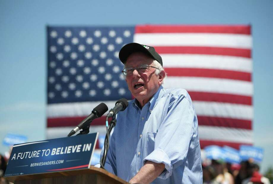"""Bernie Sanders told his supporters Tuesday in California that he was in the Democratic contest """"till the last ballot is cast."""" Photo: Josh Edelson / Getty Images / AFP or licensors"""