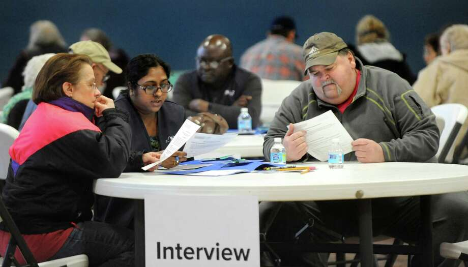 Residents go through an interview process with the Department of Health before having their blood tested for PFOA contamination on Thursday, Feb. 18, 2016, at HAYC3 Armory in Hoosick Falls, N.Y. (Cindy Schultz / Times Union archive) Photo: Cindy Schultz / Albany Times Union