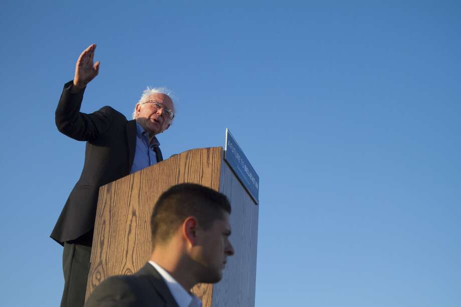 Bernie Sanders speaks during a campaign rally for Democratic presidential candidate Bernie Sanders on Wednesday, May 18, 2016 in Vallejo, Calif. Photo: Chris Preovolos