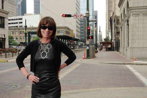 Former New York City Transportation Commissioner Janette Sadik-Khan in downtown Houston Wednesday May 18,2016(Dave Rossman Photo)