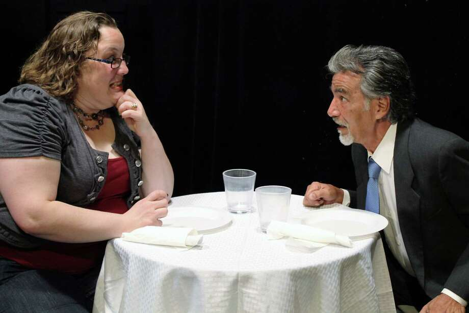 """Katie Benson and Roger Alvarez star in the Overtime Theater's staging of """"The Supper Hour in Hell."""" Photo: Courtesy Sydney Wagner"""
