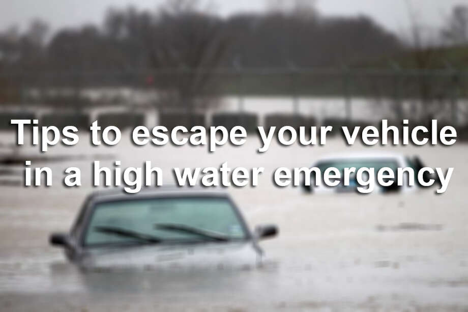 Swiftly moving flood water can sweep away a vehicle in a matter of seconds. Twelve inches of water can float a car or small SUV, and 18 inches can carry away large vehicles, according to the National Weather Service. The safest way to avoid danger is always to turn around and avoid floodwaters. But if you find yourself in a high water emergency, here are some tips that may help you escape. Photo: AP