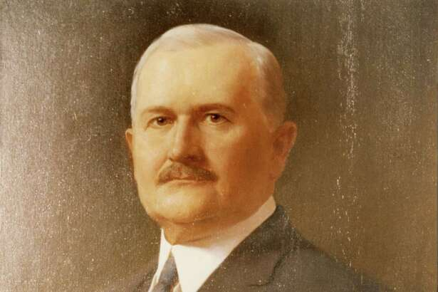 This portrait of Capt. James A. Baker -  Houston lawyer, banker and businessman and grandfather to former Sec. of State James Baker III - sits in one of the rooms at Rice University.