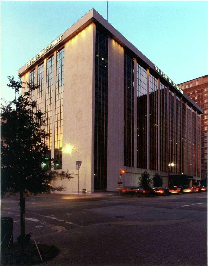 1999 -  Houston Chronicle building, 801 Texas Avenue Photo: HC Staff / © Houston Chronicle