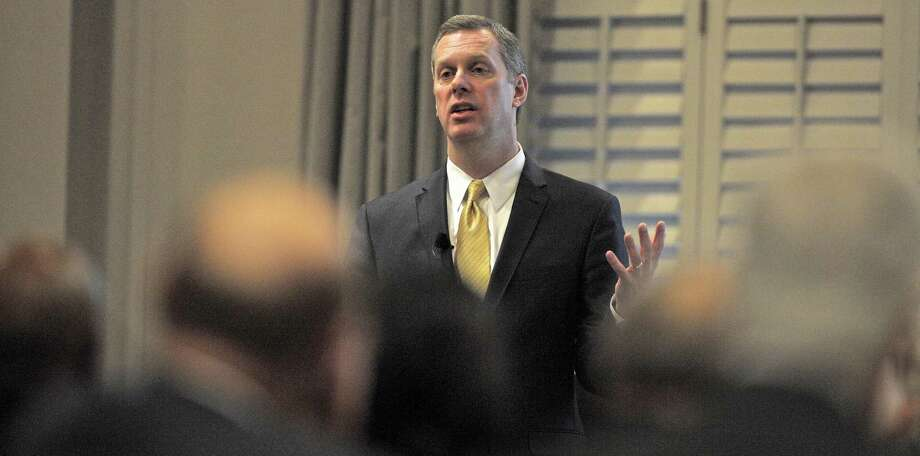 Dan DeBarba, President of Danbury Hospital and New Milford Hospital speaks at the Western Connecticut Health Network's annual meeting, held at the Ethan Allen Hotel, in Danbury,  Conn, on Thursday, January 22, 2015. Photo: H John Voorhees III / H John Voorhees III / The News-Times