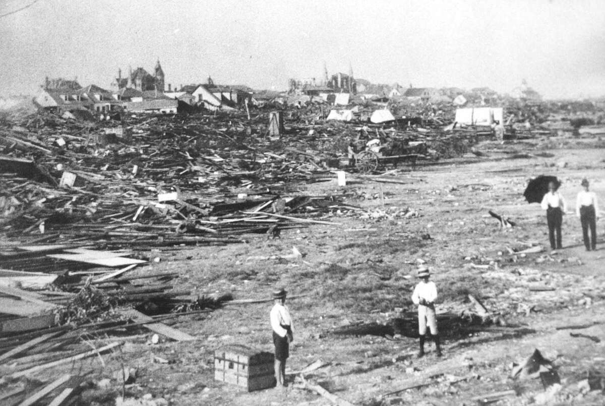 PHOTOS: Galveston's 1900 hurricane in photos  A large part of the city of Galveston, Texas was reduced to rubble after being hit by a surprise hurricane Sept. 8, 1900. More than 6,000 people were killed and 10,000 left homeless from the Great Storm. >>>See more photos from the storm that decimated the island...