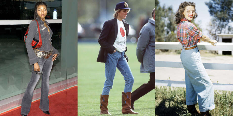 Denim itself may never go out of style, but some particular styles of jeans definitely do. >>What jeans looked like the year you were born Photo: Getty Images
