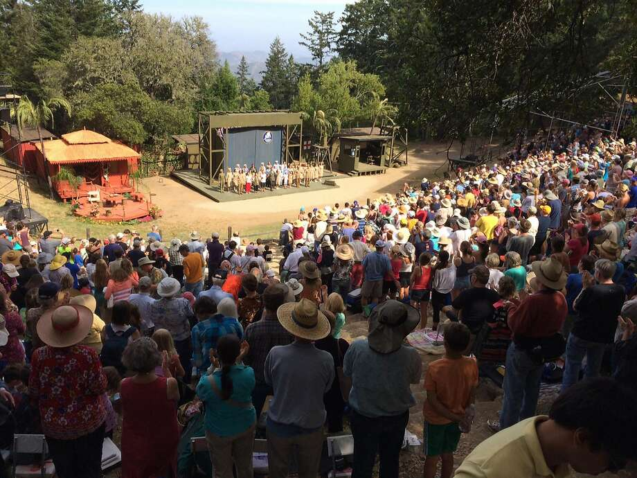"""Sidney B. Cushing Memorial Amphitheatre on Mount Tamalpais, site of Mountain Play, which presents """"West Side Story,"""" this summer."""