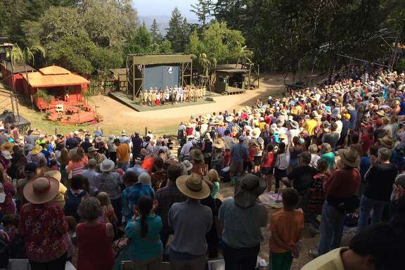 "Sidney B. Cushing Memorial Amphitheatre on Mount Tamalpais, site of Mountain Play, which presents ""West Side Story,"" this summer."