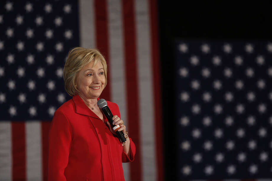 Hillary Clinton's vast résumé of, shall we say, inconsistencies, is the dog that caught the car and won't let go. A viral video collection of her comments on various subjects through the years is bestirring Republican hearts. Photo: Luke Sharrett /Bloomberg / © 2016 Bloomberg Finance LP