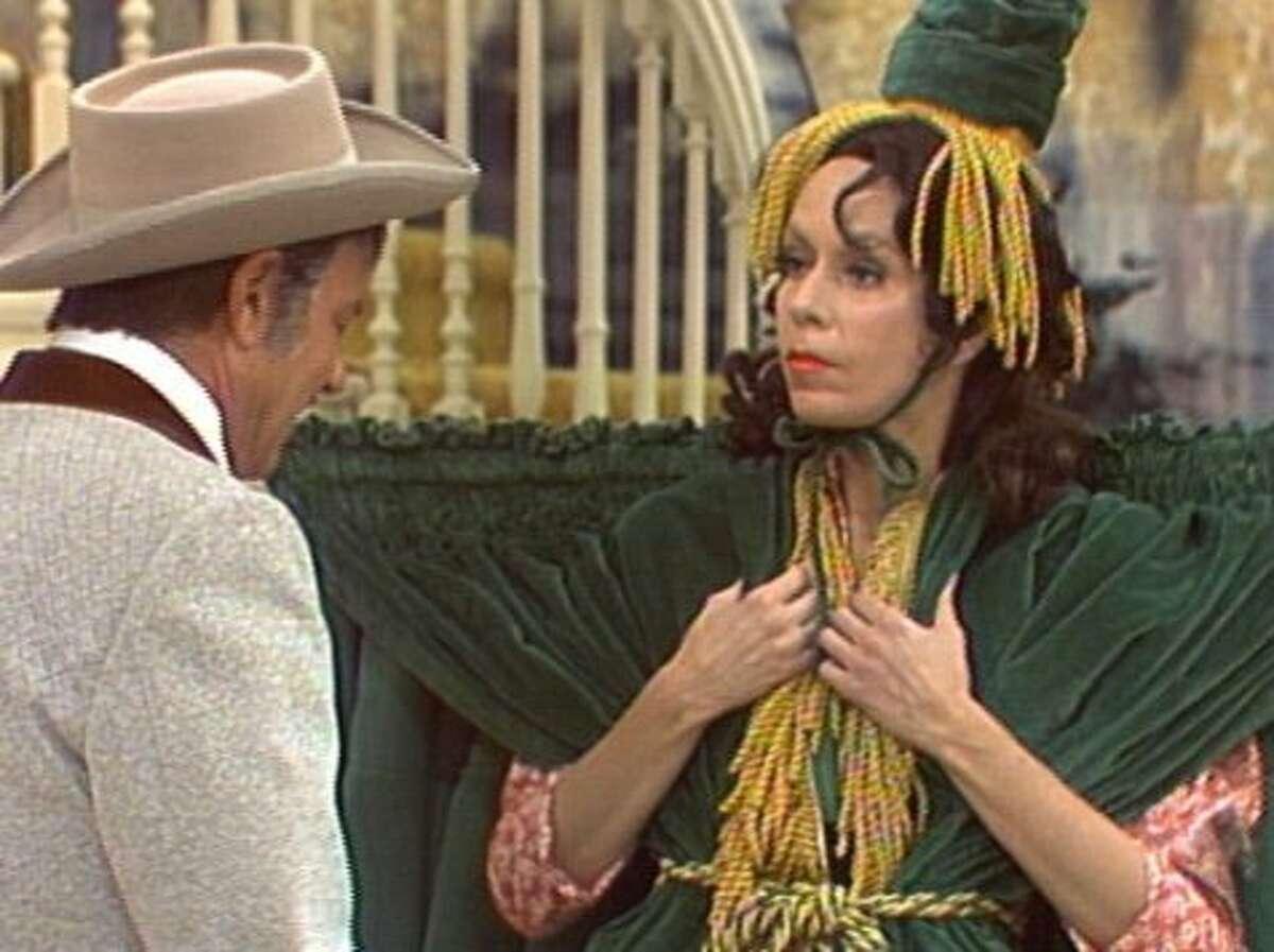 """Harvey Korman and Carol Burnett in an undated episode of """"The Caroll Burnett Show."""""""