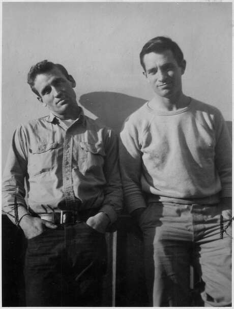 "A letter from Neal Cassady (left) to Jack Kerouac that helped to inspire the style of the latter's novel ""On the Road"" is going up for auction. Photo: HANDOUT, SFC"