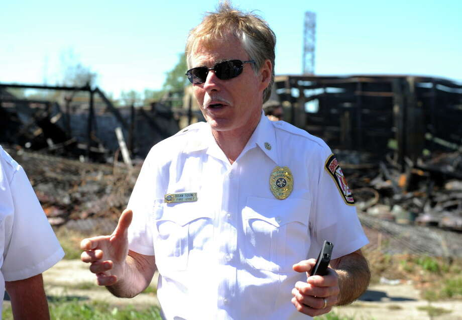 Bridgeport Fire Chief Brian Rooney is retiring, effective May 24. Photo: Autumn Driscoll / Autumn Driscoll / Connecticut Post